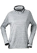 Craft - Women's - Sweep Grid T-Neck - Grey Melange