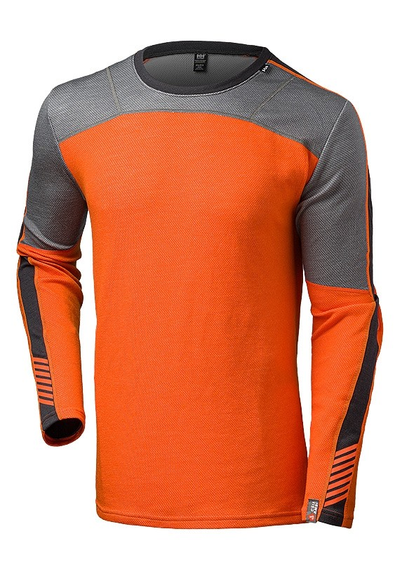 Helly Hansen Men's  - Lifa Merino Crew ~ Bright Orange