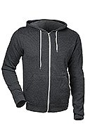 Giv'er - Unisex - Zip-Up Hoodie - Dark Heather
