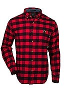 Woolrich - Men's - Trout Run Flannel Shirt - Red/Black