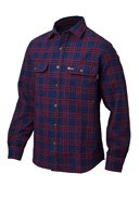 Woolrich - Men's Old Valley Double Cloth Over Shirt - Navy/Red