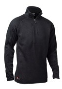Bula - Men's Leo Fleece T-Neck - Black