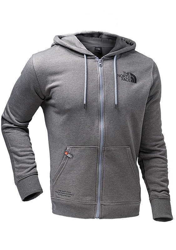 North Face Men's Brand Proud Full Zip Hoodie - Grey